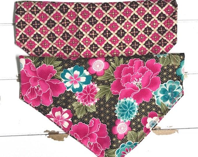 Reversible Asian Floral Bandana