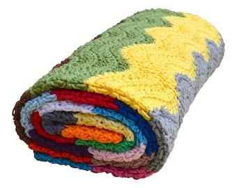 Crochet pattern : ripple blanket