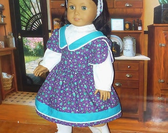 Robe de Style victorien, chemisier et bandeau s'adapte à Samantha de poupée American Girl