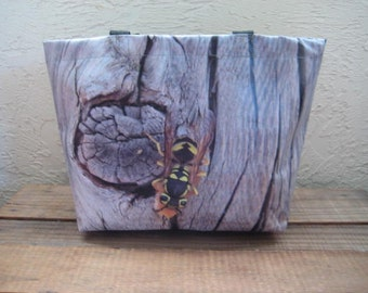 Large Vinyl Tote Bag - Western Yellowjacket - Vespula pensylvanica