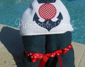 Anchor Hooded Towel FREE MONOGRAM