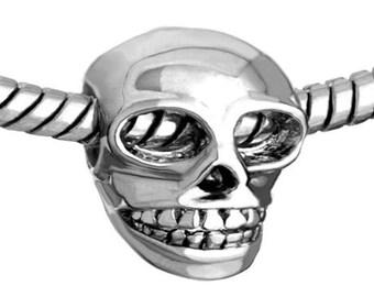 Pugster skull  Charm Fit All Brands Bracelets even Pandora