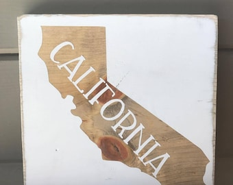 California Wood Sign   Wooden Sign   State Sign   Rustic Wood Sign   Shelf Sitter Sign   California Sign   Wood Signs   Home Decor