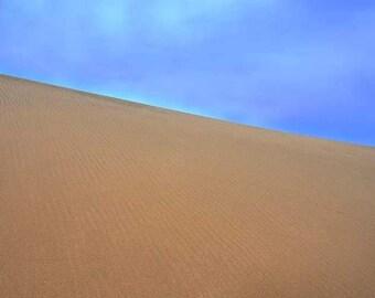"Sand Dunes Photo, Sleeping Bear Sand Dunes, Michigan, Landscape Photography, Nature Print, ""Textured Sand"", Fine Art Photography"
