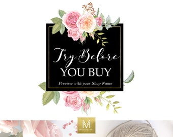 Premade Logo Try Before You Buy - Price include only ONE font option