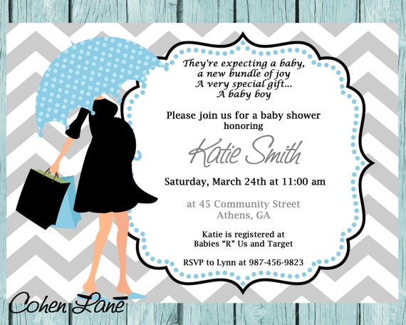 Printable modern mom baby shower invitation printable baby filmwisefo Choice Image
