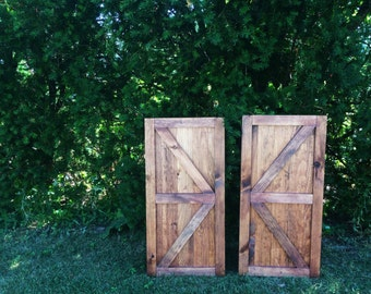 Set of Mini Barn Doors, Barn Doors, Fireplace Barn Doors, Sliding Barn Doors, Hanging Barn Doors, Sliding Barn Doors, Rustic Barn Doors