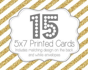 15 PRINTED INVITATIONS and white envelopes