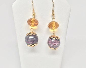 Beaded Gemstone Earrings