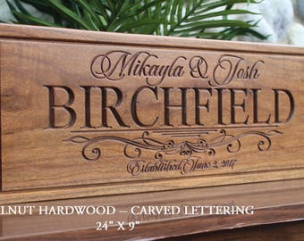 Gifts for the couple etsy personalized wedding gift for the couple bride and groom gift custom wedding gift sign engraved wedding memento save the date prop sign wood negle Choice Image