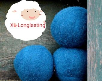 XL Wool Dryer Balls - Canadian Wool - Teal Dryer Balls