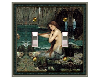 1591x - Waterhouse Mermaid - mrs butler switch plate covers - choose sizes / prices from drop down box
