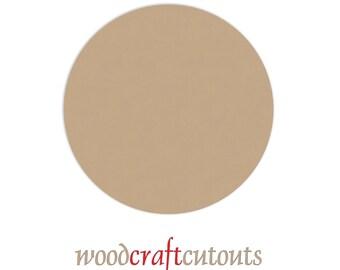 4 Inch Circle Wood Craft Cutout Shape - Unfinished MDF