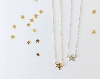 Shooting Star Necklace, constellation, dainty, gift, gold, sterling silver, celestial, luminous, sky, star jewelry, heavenly, night sky