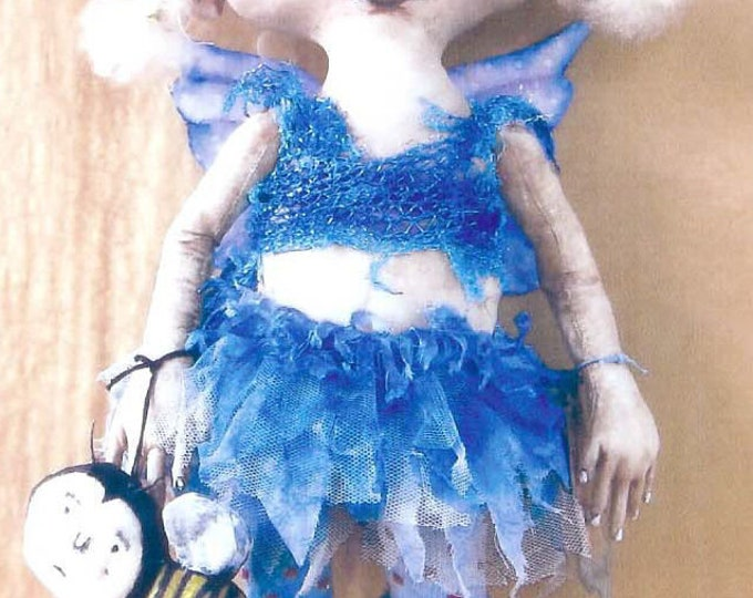 SE709 - Fiona with a Bee, Fairy and Bee Fabric Doll Pattern,  Sewing Cloth Doll Pattern - PDF Download by Susan Barmore
