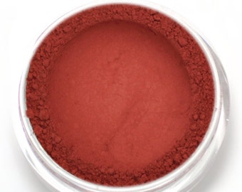 "Warm Red Matte Eyeshadow - ""Poppy"" - Tomato Red Vegan Mineral Eyeshadow Net Wt 2g Small"