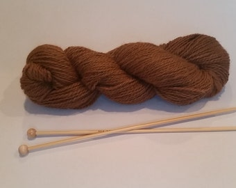 Medium Fawn Alpaca Yarn - approx 200 yds