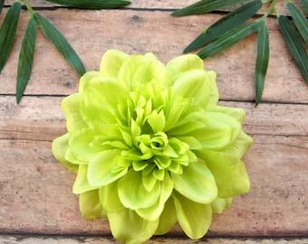 Lime Dahlia Hair Clip, Green Flower Hair Clip, Lime Dahlia -LAST ONE!