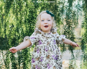 size 6-12m ONLY Ready to ship- Kensington Floral Ruffled Dress