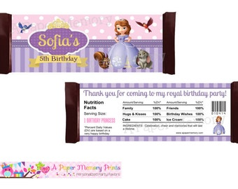 Sofia The First Candy Wrapper - DIY Printable