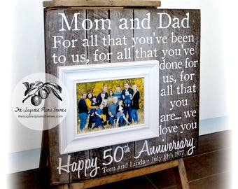 50th Anniversary Gifts, 25th Anniversary Gifts, Parents Anniversary Gift, Anniversary Frame, 16x16 The Sugared Plums Frames