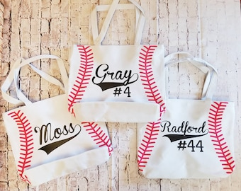 Personalized baseball tote bag - baseball - tote bag - baseball tote bag - baseball bag