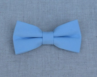 Powder Blue Bow Tie, Mens Bow Tie, Solid Powder Blue Bow Tie, Bow Tie for Men, Bow Tie for Wedding, Plain Bowtie, Groomsmen & Groom Bow tie
