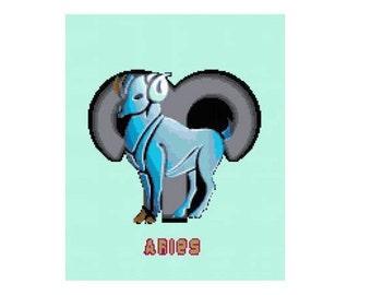 Aries Cross Stitch Chart