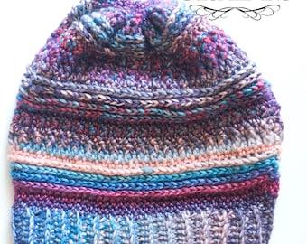 Beautiful Slouchy Beanie Crochet Winter Hat Ready to Ship