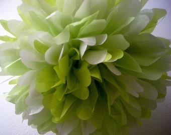 tissue paper pompom / SUCCULENT / garden wedding decorations / sage chartreuse green pompoms / aisle marker pom / baby shower poms
