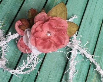 Baby Girl Headband ~ Flower Girl Dress Headband ~ Headband for Girls ~ Baby Shower Gift ~ Floral Headband ~ Newborn Photo Prop Headband