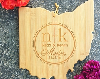 Ohio Cutting Board,State,Cutting Board,Personalized Cutting Board,Shower Gift,Wedding Gift,Anniversary Gifts,Housewarming Gift