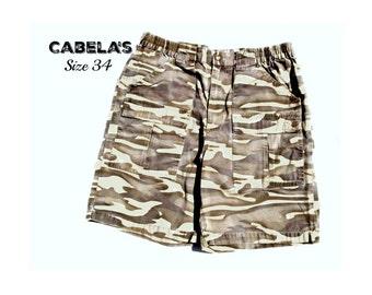 cargo shorts , camouflage shorts,men's jean shorts, denim shorts,  90's shorts, size -34 shorts, # 3