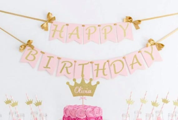 Happy Birthday Wall Banner Birthday girl Birthday banner