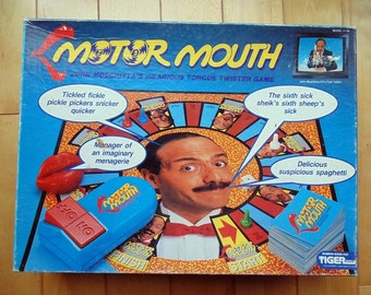 Vintage MotorMouth Board Game 1990. Tiger Games.