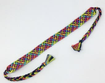 Neon Criss Cross Friendship Bracelet