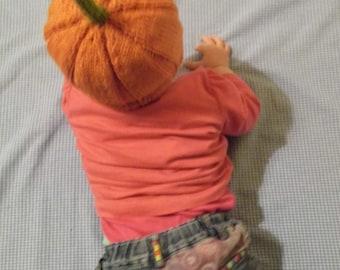 Baby Pumpkin Halloween Beanie Hat