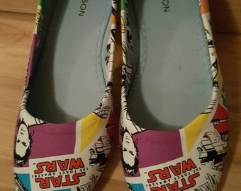 Star Wars - Rey Force - Womens Flat Shoes - AU Sizes 6-11 - Custom made - Ready to ship