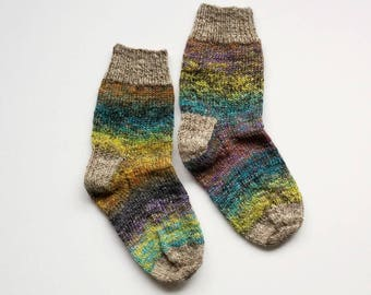 Prairie - Hand-Knit Socks Women 7.5 - 8 - 8.5