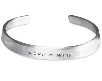 Love Wins Mantra Bracelet