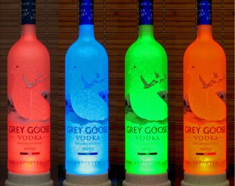 Grey Goose Vodka Color Changing Remote Control lamp Bottle Lamp Bar Light man cave lighting LED Eco lamp Liquor Lamps Bodacious Bottles