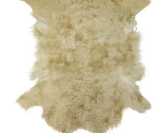 Glacier Wear Tuscan Lamb Hide Pelt Fur Beige