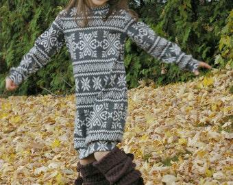 Sugar Plum Sweater Dress - Ellie Inspired Knit Sweater Dress PDF pattern  - sizes 1-16