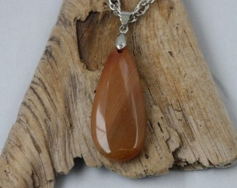 Spring Into Summer Sale - Red Line Agate Necklace - Item 1698