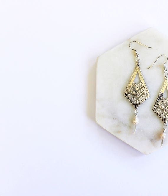 Pearl & Filigree Earrings