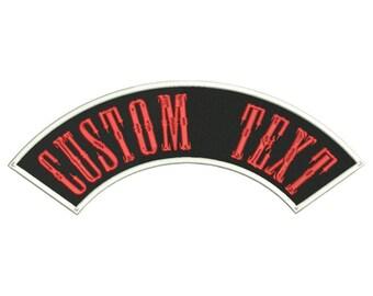 Custom Embroidered Top ROCKER MC Biker Patch