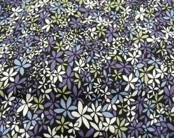 Cotton Flower print fabric blue & purple
