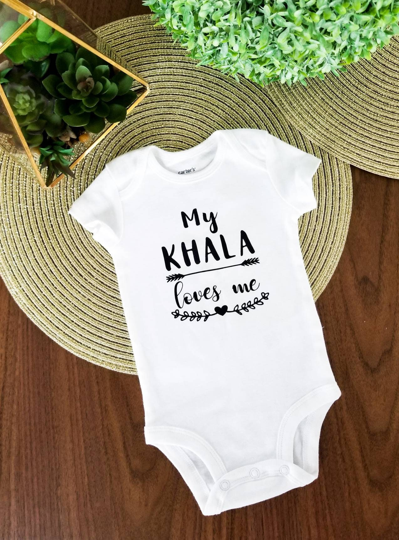 My Khala loves me Aunty Auntie bodysuit Baby clothing
