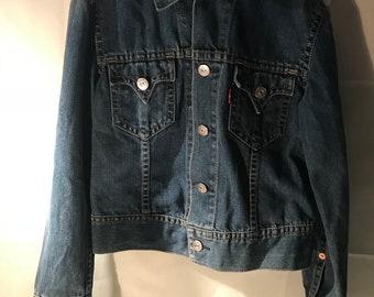 Levi's Blue Jean Denim Jacket Medium Woman's