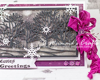 Season's Greetings Winter Scene Holiday Card